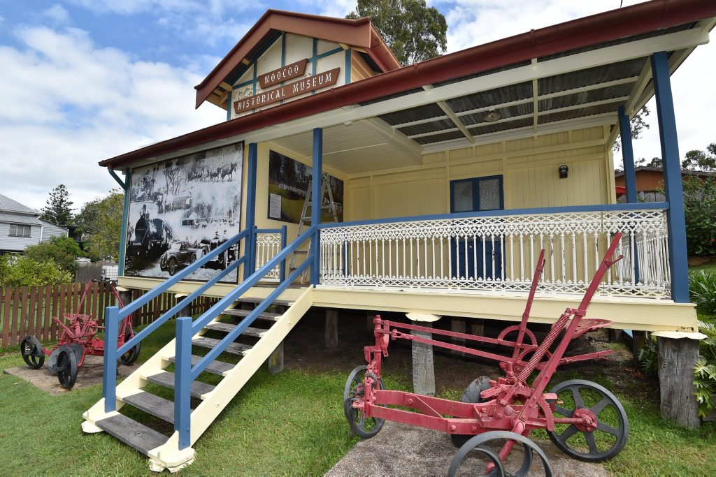 Wayne Staib, groundsman and honorary member of the Woocoo Historical Museum gives one of the buildings a lick of paint. Situated at the township of Brooweena, the museum is open to the public on the 2nd and 4th Sundays of each month. Photo: Alistair Brightman / Fraser Coast Chronicle