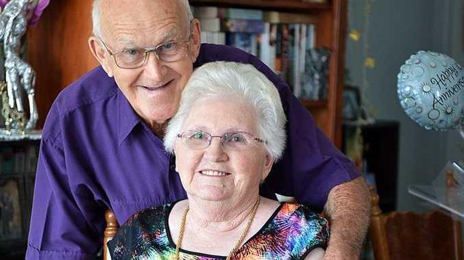 Tom and Sadie Brooks celebrate their 60th weddind anniversary. Photo Renee Albrecht/Gympie Times