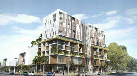 An artist's impression of the new development application for the Gordon St end of Coffs Central lodged by Gowings Pty Ltd.