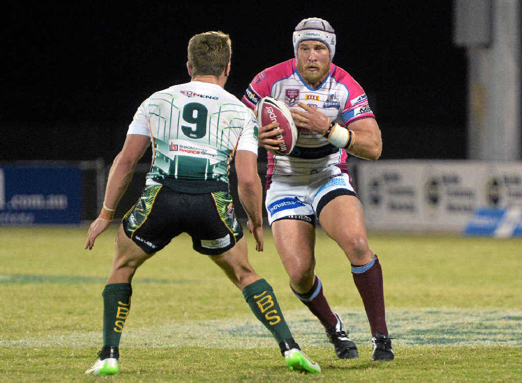 HE'S BACK: Former Mackay Cutters co-captain Chris Gesch playing for the side last year. Gesch will be back in Mackay, playing for the Redcliffe Dolphins on Saturday.