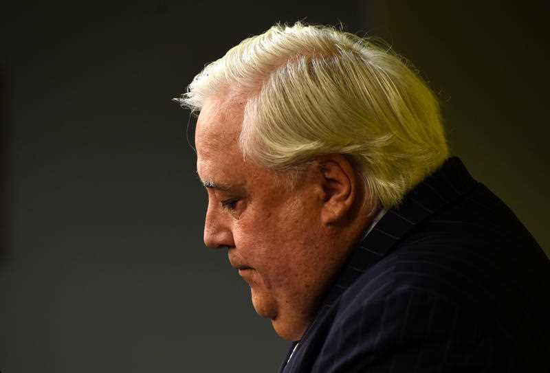 Federal member for Fairfax Clive Palmer speaks during a press conference in Brisbane, Monday, March 14, 2016. Clive Palmer has issued a number of demands he says must be met in order to save his embattled nickel refinery in in Townsville in light of the Queensland and federal governments having so far done nothing to help sacked workers.