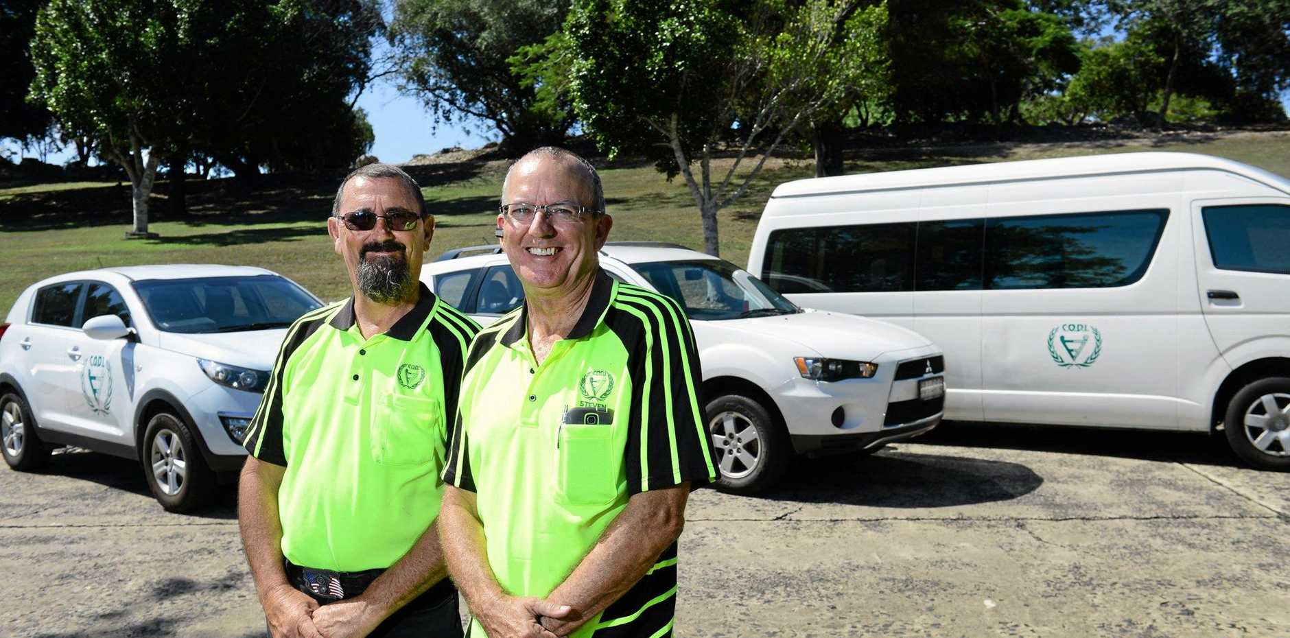 CODI drivers Adrian Pamenter and Steven Arrowsmith help to provide non-urgent transport for people with disabilities.