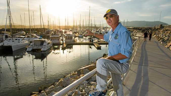 BLOCKED: Fisherman Rick O' Ferrall says the closure of a fissure which flushed out the marina is creating water quality issues.