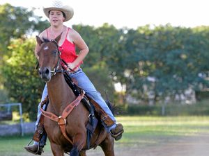 Barrel racer off to the US