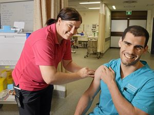 Frontline health staff given the jab ahead of flu season