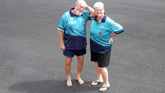DRIVERS OF CHARITY: Dude and Merilyn Ensbey at Evans Head.