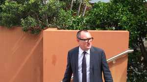 Travis O'Brien leaving the Gladstone Magistrates Court.