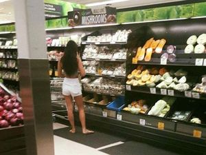 Taking a photo of a woman at the supermarket's not stalking