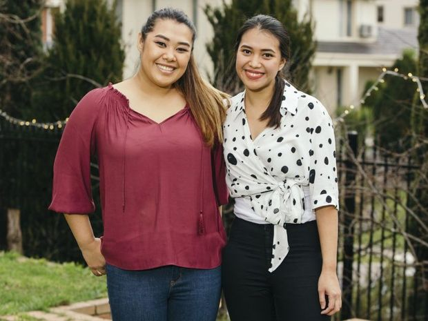 My Kitchen Rules contestants Gracia and Tasia.