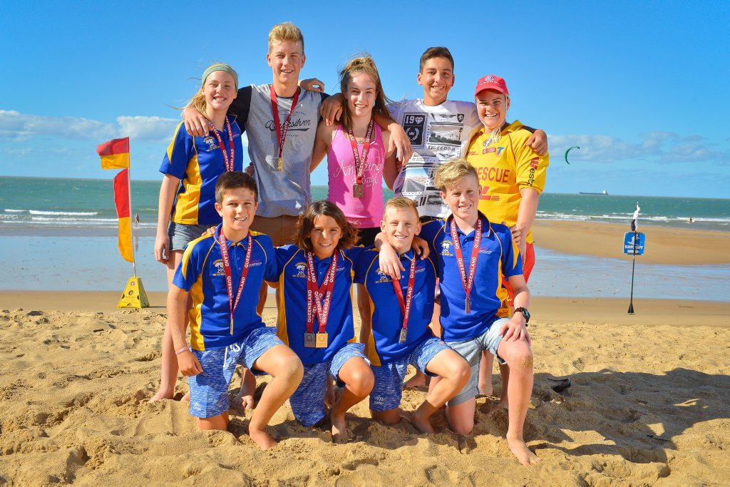 (Back) Mia Bell, Ryan Bebendorf, Sidney Blake, Michael Poli, Nicole Lowe, (Front) Ben Dollery, Tanna Martin, Peyton Craig and Coby Richardson with their State Title medals. Photo Mike Richards / The Observer