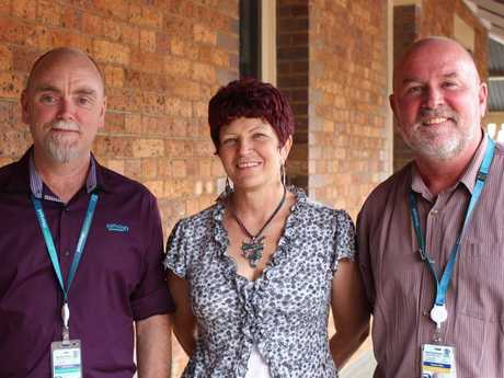 Looking forward to this Friday's Blood and Blood Products workshop are DDHHS transfusion nurse Susan Kay (centre) and haematologists Neil Dawson and Greg Miles.