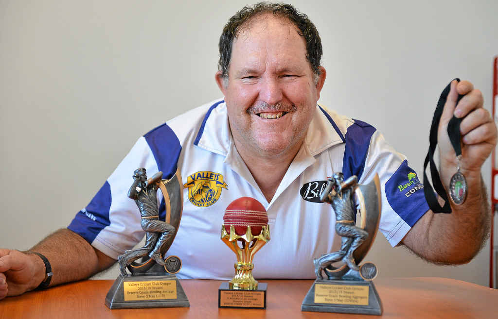 SILVERWARE: Stephen O'May with his haul of trophies.