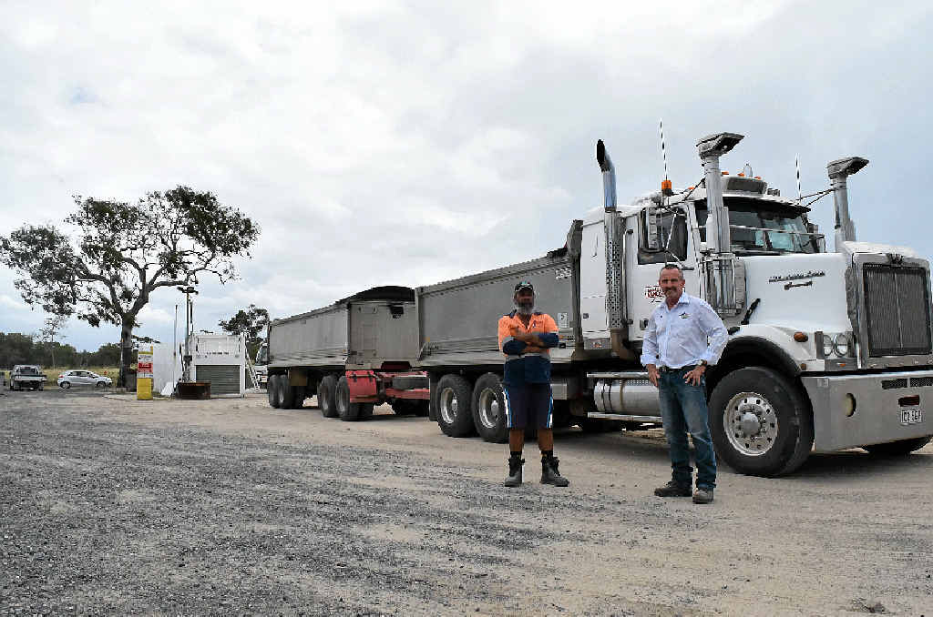 Shane Wilson and Rod Sercombe, of Kennedy Creek Lime, delivered lime 1200km to Julia Creek to neutralise an acid spill after a train derailment.