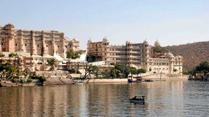 The City Palace at Udaipur, India, which towers of Pichola Lake. The palace was built by Udai Singh, the founder of Udaipur, but was added to by every subsequent ruler.