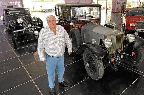 BETTER DAYS: Clive Palmer with some of his Rolls Royces.