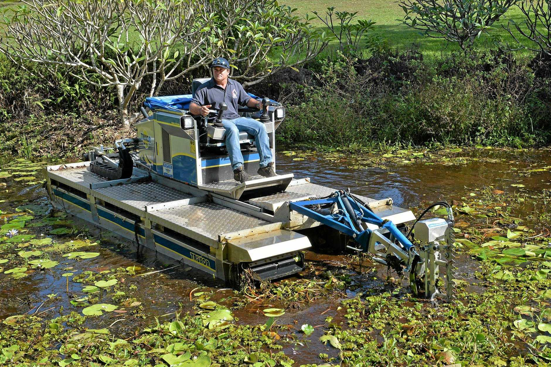 Adam Farr, of Palmwoods-based Farr Environmental Services, with his new Truxor 5045 in action