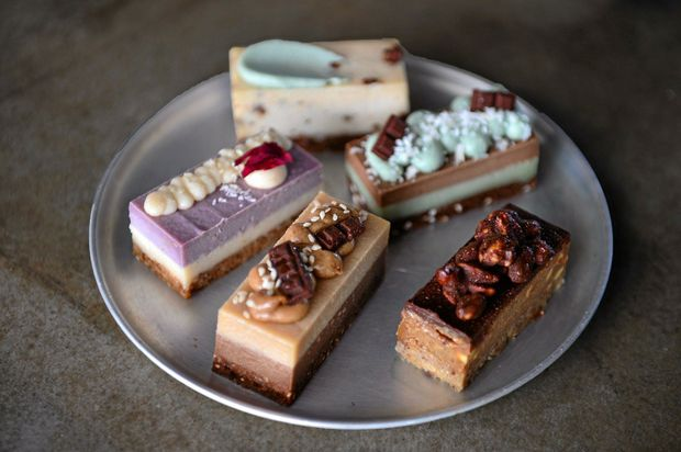 YUM: Jasmin Smith supplies her vegan cake range, Rawr Foods to Decisions cafe in Birtinya.
