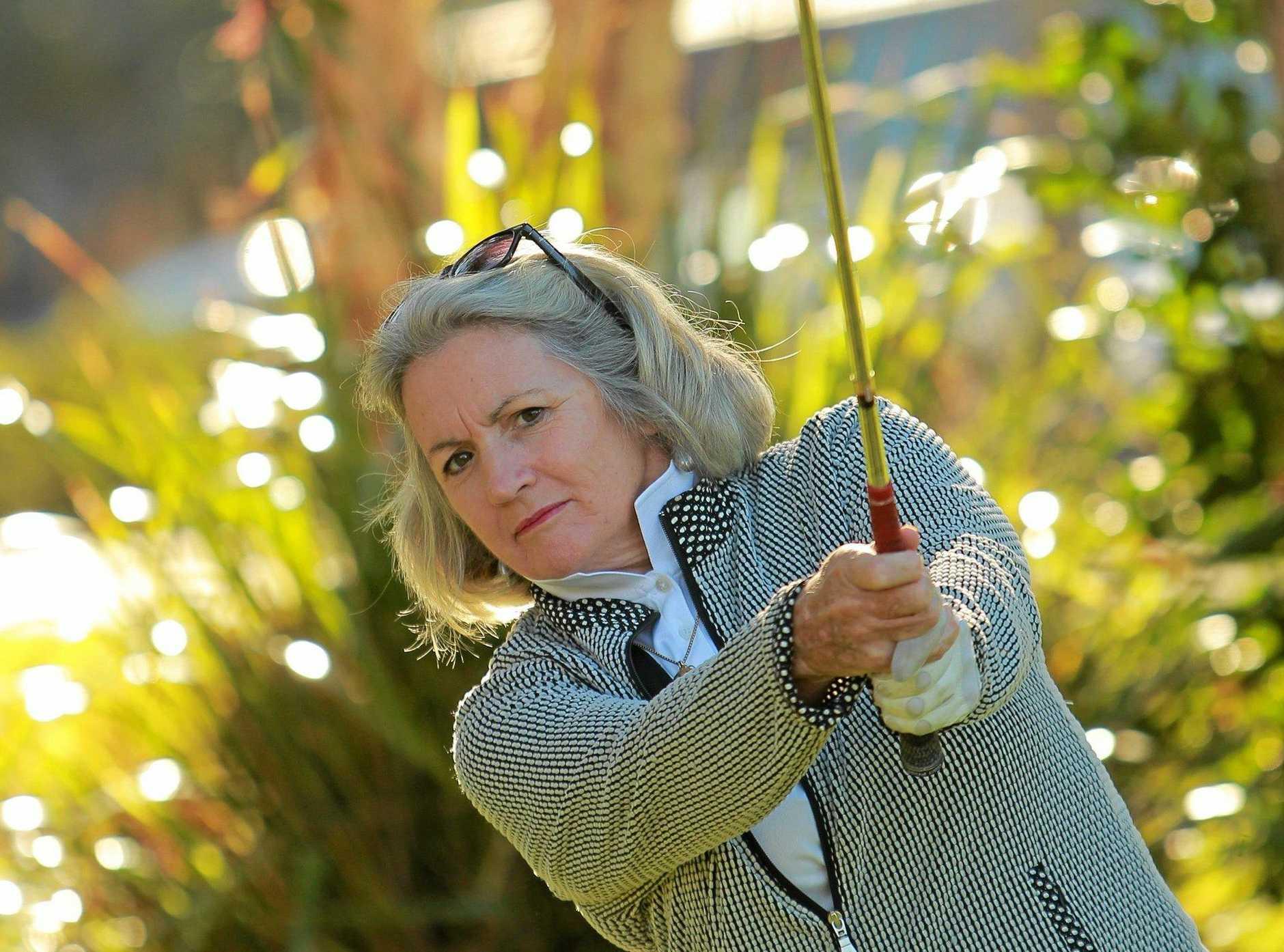 ON FIRE: Headland Park golfer, Josie Ryan watching her shot closely.