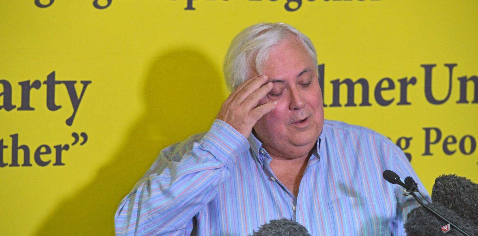 Clive Palmer at a press conference at Coolum.  Photo: John McCutcheon / Sunshine Coast Daily