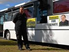 Federal senate candidate Paul Stevenson said he was looking forward to touring Queensland in his campaign bus, Chippie, for the Australian Democrats.Photo Sophie Lester / Warwick Daily News