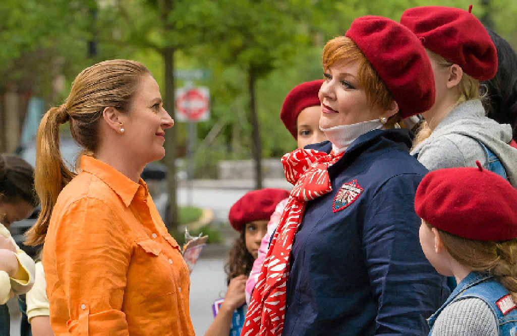Annie Mumolo, centre left, and Melissa McCarthy in a scene from The Boss.