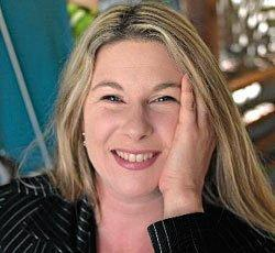LAUGHTER THERAPY: Mandy Nolan brings laughter to dementia patients.