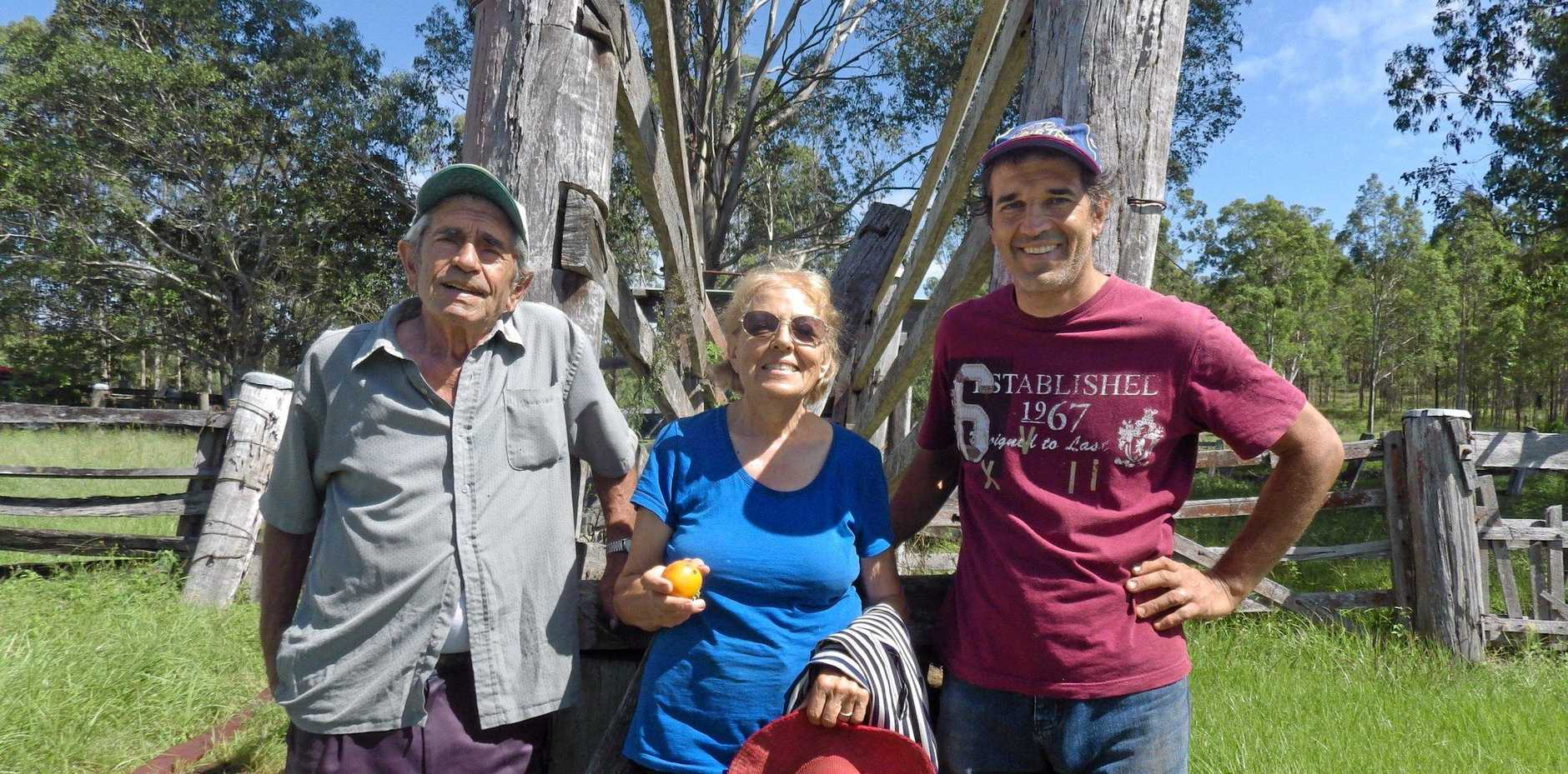 Angelo, Maria and son Donato Leo open up their olive farm in Mongogarie.