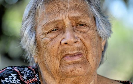 Aunty Phill Parsons was born at the Purga Mission
