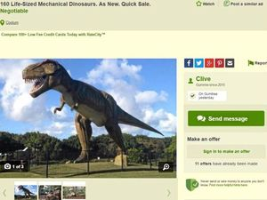 'Clive' doing deals on the dinos