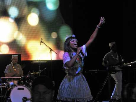 RAY OF MUSIC SUNSHINE: Santigold at Parklife.  Photo Brony Popp / Daily Mercury