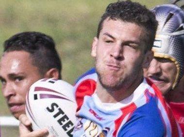 DANGER MAN: Toowoomba Clydesdales under 20s centre Kurtis Shayler.