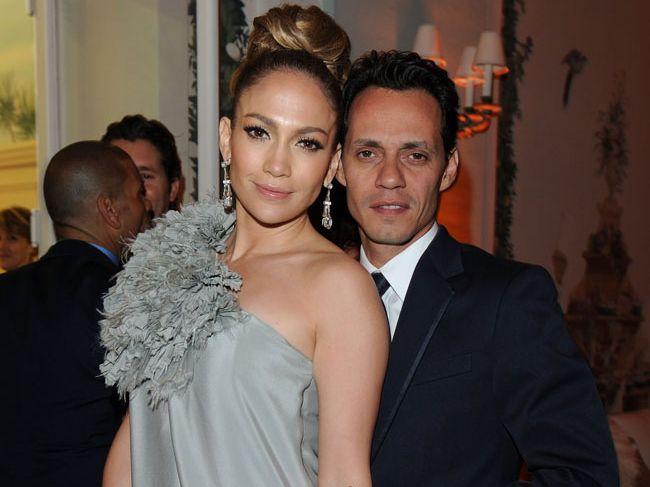Jennifer Lopez and Marc Anthony.