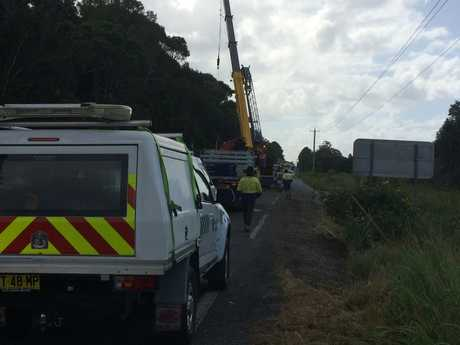 The clean up following a truck crash on the Pacific Highway has nearly been completed.