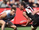 Once a Cat ... James Kelly in action for the Bombers. Photo: AAP Image.