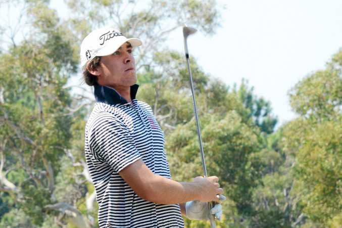 Aden Louez leads the Coffs Harbour Golf Club club championships field after the opening round.