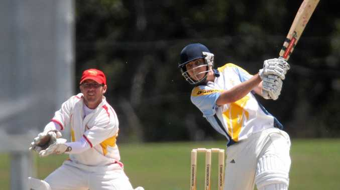 OUT OF THERE: Simon Milenko hits out in Brisbane club cricket. After failing to establish a place in the Queensland team, Milenko is heading for Tasmania to take up a contract with the Tigers next cricket season.