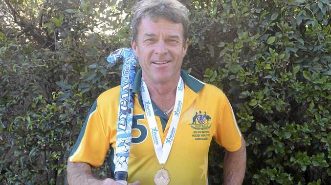 SILIVER LINING: Australian Over-50s representative Michael Russ is back in the Clarence with a new bit of silverware.