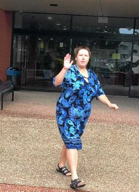 Angela Pershouse leaving court earlier this year.