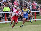SPEEDSTERS: Norths' winger Tevita Fetuani makes a break as Souths Loni Lama chases. Inset: Brendan Withers on the run.