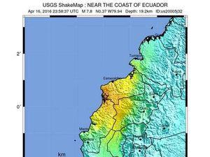 7.8 magnitude earthquake hits Ecuador