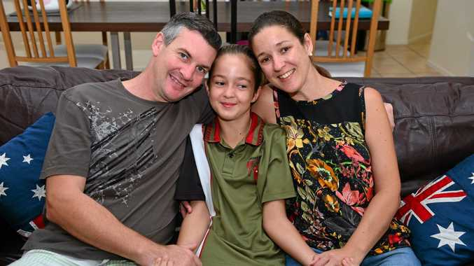 PUTTING ON A BRAVE FACE: Roz Harper is struggling with brain cancer but is surrounded by the love of her family, husband Jon and daughter Molly. Photo: John McCutcheon / Sunshine Coast Daily