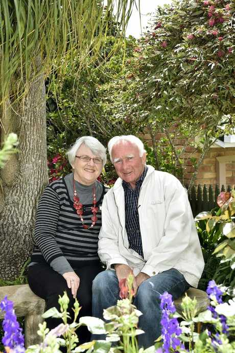 Ron and Val Peachey during the Carnival of Flowers in 2014, in which they were exhibition gardeners.