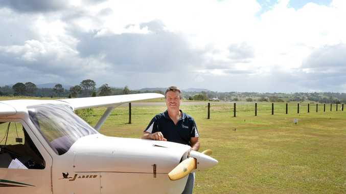 Ray Gresham at the site of the proposed airpark, Kybong.
