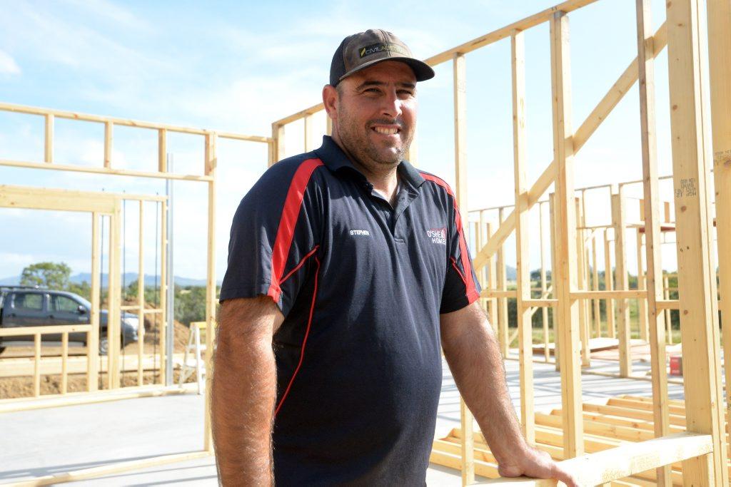 Builder Stephen O'Shea. Photo Kelly Butterworth / The Morning Bulletin