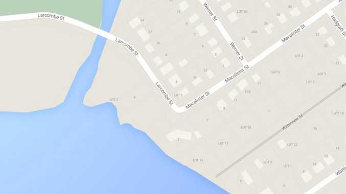 Human remains were found on the banks of a creek bordering Macalister St.