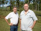 Glenn Powell and John Bonnell do not want a NBN tower near their houses Photo Trinette Stevens / Morning Bulletin