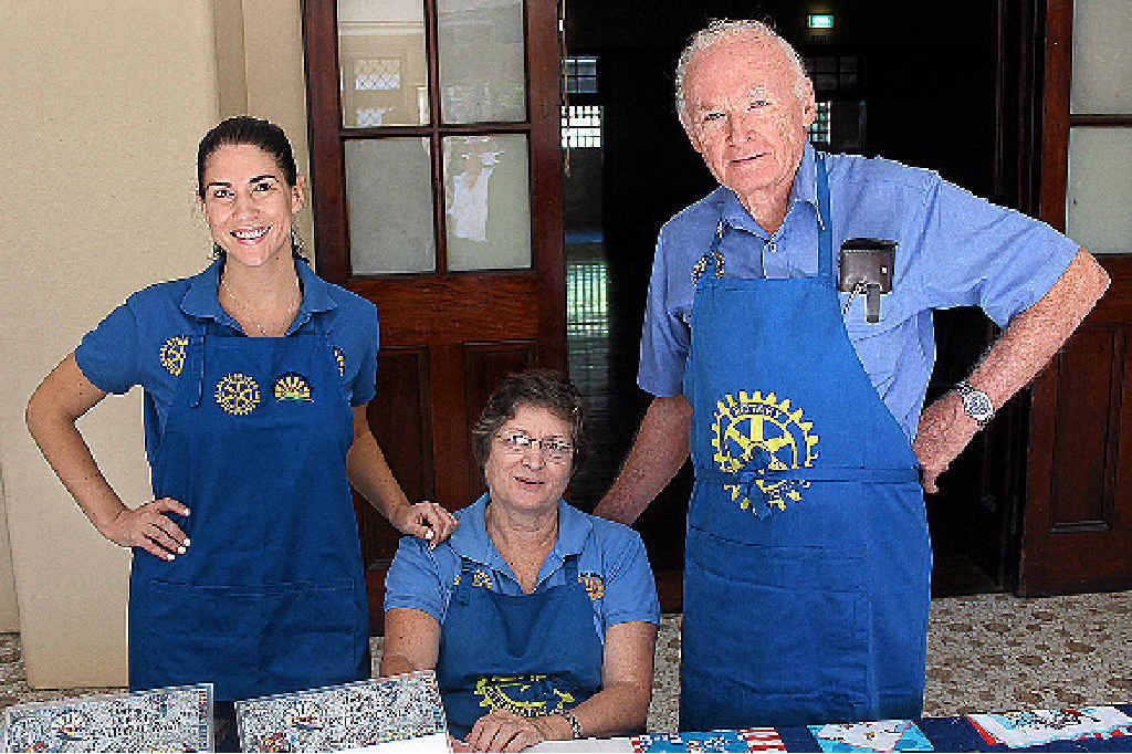 MERGING: Rotary Club Maryborough Sunrise members Katrina Pitman, Glenda Pitman and Graham Outhwaite will join forces with the members from Rotary Club of Maryborough.