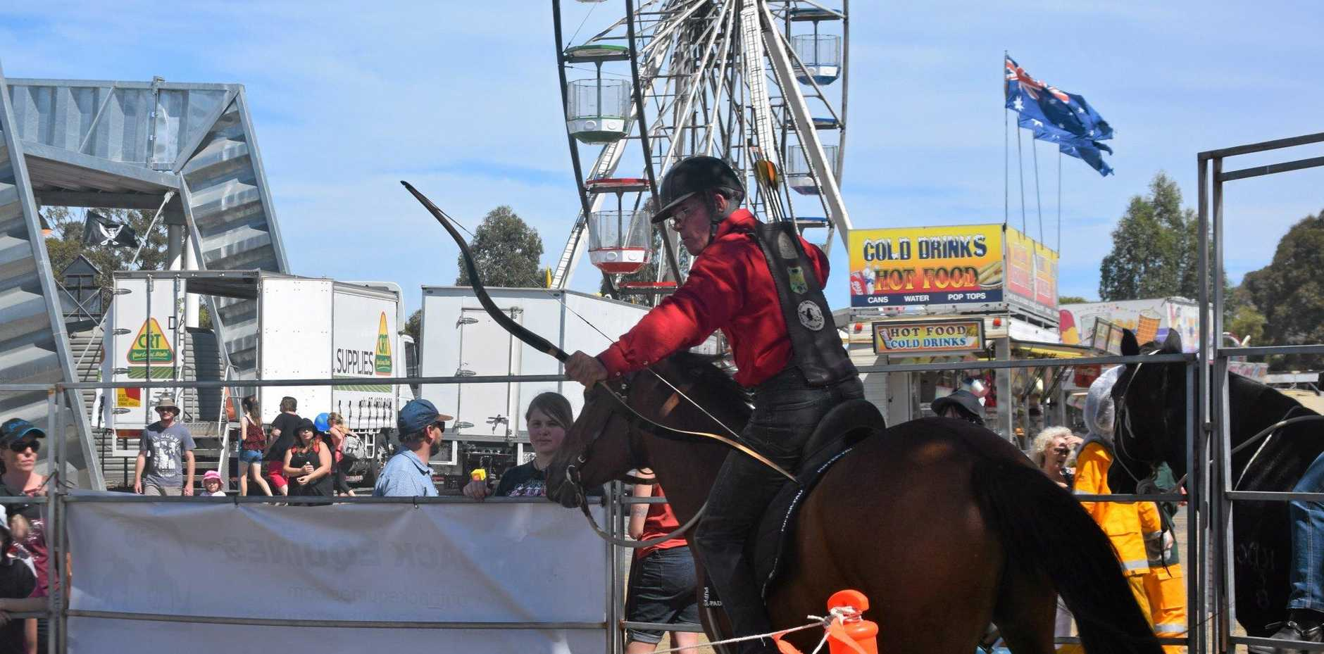 SHOW PONY: John Downes of Outback Equines at the Dalby Show.