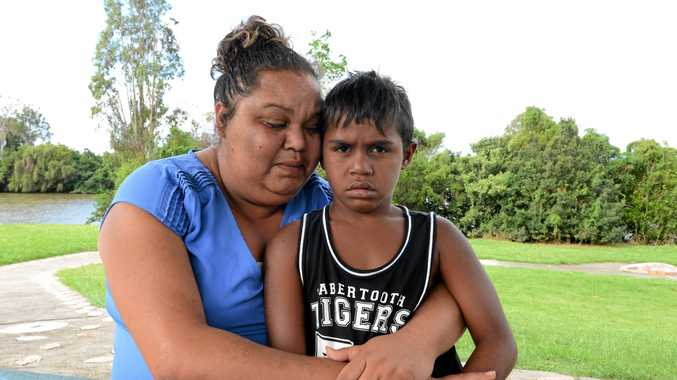Jane Williams' eight year old son Mundhra was left in the back of a paddy wagon at Coraki Police Station for 3 hours.