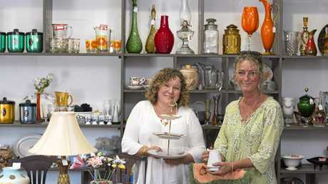 MOVING HOME: At Home in Toowoomba is moving from Railway St to a warehouse in Brook St. Co-owner Sharon Kinnear (right) is looking forward the new site, with Helen Anderson of Elegant Vintage Hire.